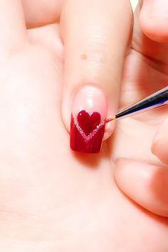 Nail Art Designs Videos, Nail Design Video, Nail Art Videos, Gel Nail Designs, Chic Nails, Stylish Nails, Nail Art Hacks, Nail Art Diy, Cute Acrylic Nails