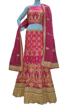 Buy Now Magenta Zari with Diamond Work Raw Silk Bridal Lehenga Choli only at Lalgulal.com. Price :- 12,984/- inr. To Order :- http://goo.gl/h5aP0W COD & Free Shipping Available only in India.