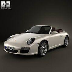 Porsche 911 Carrera Cabriolet 2011 3d model from humster3d.com. Price: $75