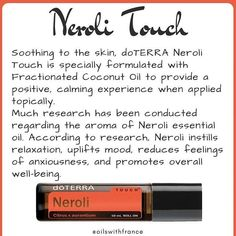 Neroli oil is an essential oil produced from the blossom of the bitter orange tree. Its scent is sweet honeyed and somewhat metallic with green and spicy facets. The most precious oils often come from blossoms as it's such a delicate part of a plant from which to extract its aromatic compounds. The bitter orange tree produces Neroli essential oil bitter orange essential oil and Petitgrain essential oil too! We are so lucky that doTERRA makes this oil available to us in their perfectly…