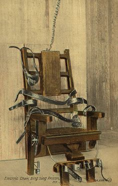 Postcard of Electric Chair at Sing Sing Haunted Prison, Vampire Castle, Near Dark, Electric Chair, Rocking Chair Cushions, Compact Table And Chairs, Blue Dining Room Chairs, Weapon Of Mass Destruction, Halloween Projects