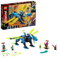 Buy LEGO Ninjago - Jay's Cyber Dragon at Mighty Ape NZ. This LEGO® NINJAGO® Jay's Cyber Dragon buildable toy with 5 minifigures will be adored by fans of ninja mechs, who can use it to create their own acti. Dragon Robot, Ninjago Dragon, Dragon Ninja, Lego Ninjago, Ninjago Jay, Figurines D'action, Shop Lego, Buy Lego, Robot Ninja