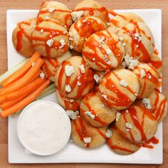 Check out this great recipe from Franks RedHot: Buffalo Chicken Bombs
