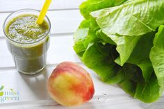 Missgreen zoldturmix Miss Green, Healthy Drinks, Cantaloupe, Smoothie, Peach, Fruit, Cooking, Food, Kitchen