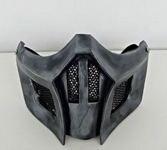 Custom Airsoft Mask & Paintball Helmet by Airsoft Full Face Mask, Airsoft Mask, Mortal Kombat Mask, Scorpion Mortal Kombat, Mens Face Mask, Foam Armor, Gadget, Cool Masks, Half Face Mask