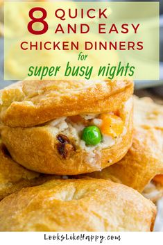 8 Quick and Easy Chicken Dinner Recipes for Busy Nights. 8 Quick and Easy Chicken Dinner Recipes for Busy Nights - Looks Like Happy Busy days call for dinners that are quick Easy Chicken Dinner Recipes, Easy Meals, Easy Weekday Meals, Weeknight Meals, Super Easy Dinner, Healthy Snacks For Diabetics, Dinner Is Served, Family Meals, Steak
