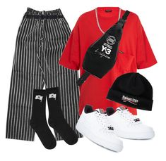 """Untitled #610"" by youraveragestyle ❤ liked on Polyvore featuring Dickies, Alyx, Balenciaga, Y-3, NIKE, men's fashion and menswear"