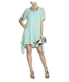 BCBGMaxAzria Sharon Layered Dress: Finally a dress you can be comfortable in all day (and night) long. Plus, the loose trapeze shape floats away from the body to stylishly disguise a tummy.
