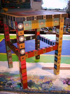 Painting It: Wooden Stool