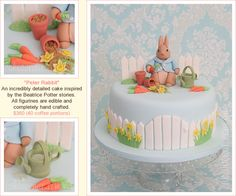 I like the gate on this Peter Rabbit cake