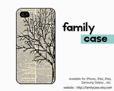 Winter Tree (dictionary background) iPhone 5 Case , Retro iPhone 5 Cover , Art Hard iPhone 5 Case, Plastic Case (Black or White Case)