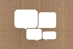 White Speech Bubbles by Creative VIP on @creativemarket