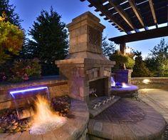 terrassenplatten aus stein, weiße essmöbel und offene gas ... - Ideen Tipps Gestaltung Aussenraume