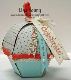 Stampin' Up!  Petal Cone  Lisa Young  Cupcake