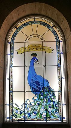 The Paradise BBC Series ~ Based on Le Bon Marché.  This Peacock Stained Glass Window is in the intro & often in the Background.