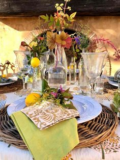 Easy to Create Spring Bottle Tablescape