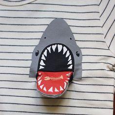 T-shirt Shark Attack - Milkontherocks Kids Graphics, Baby Boy Swag, Baby Couture, Stylish Boys, Summer Boy, Toddler Fun, Kids Prints, Baby & Toddler Clothing, Trendy Baby