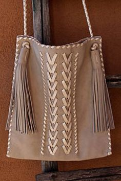 Taupe shoulder bag. Soft leather, hand stitching, hand embroidery...gorgeous