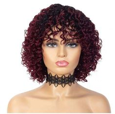 100% Remy human hair wig with soft, short, loose, deep curly, 12 inch. Hair is easy to comb, glueless and has virtually no shedding. Wig uses classic cap with elastic lace, straps and combs allows easy application and removal, which makes it perfect for everyday use. Fits head circumference 22 to 22.5 inches.
