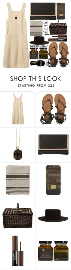 """""""Picnic Date"""" by juliehalloran ❤ liked on Polyvore featuring Billabong, London Road, Dune, HEX, Picnic at Ascot, Janessa Leone, Sephora Collection, AMBRE and Deborah Lippmann"""
