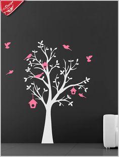 Confira a salas e quartos beleza e destaque com este lindo adesivo decorativo Birds Pink, com árvore e pássaros. Decore Ideias - Adesivos Decorativos, Presentes Criativos, Papeis de parede e muito mais.