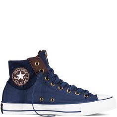 d2a8a1b8775817 Chuck Taylor All Star Zip Nighttime Navy Burnt Umber White - Sneakers -  Women