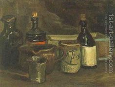 Still Life With Bottles And Earthenware Vincent Van Gogh Reproduction | 1st Art Gallery