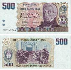 500 pesos argentinos Vintage Frases, Central Bank, Money Talks, Educational Websites, Paper, Mclaren Mp4, Samurai, Cactus, Nostalgia