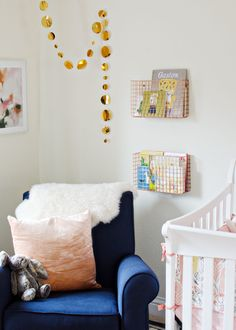Peach + Copper Girls Nursery - The Vintage Rug Shop The Vintage Rug Shop