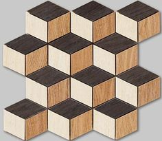 Apavisa - Oak mosaic - timber effect porcelain diamond mosaic tile