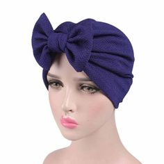 bb30a0ec011d4 Solid Knitted hat Women Bow Cancer Chemo Hat Beanie Scarf Turban Head Wrap  Cap For bandana bowknot Wrap cancer hat Cap Chemo