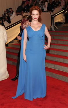 "Christina Hendricks Photos - ""American Woman: Fashioning A National Identity"" Met Gala - Arrivals - Zimbio"