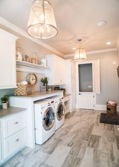 Farmhouse Laundry Room. #laundryroom #ad