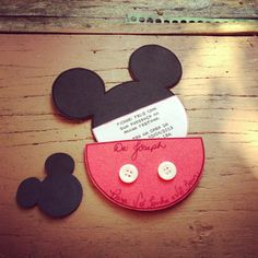 Mickey Mouse Party Invitation on Etsy, $30.00