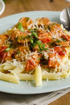 Penne Pasta with Spicy Vodka Tomato Cream Sauce Recipe