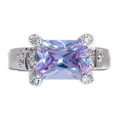 Emerald Cut Tanzanite Ring Jewelry Rings, Jewelry Box, Jewelery, Tanzanite Jewelry, Blue Topaz Ring, Eternity Ring, Leather Jewelry, Fashion Rings, Beautiful Rings