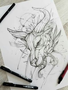 ohlatpz - Tattoos - Home Tattoo Sketches, Tattoo Drawings, Art Sketches, Art Drawings, Body Art Tattoos, Ankle Tattoos, Small Tattoos, Ox Tattoo, Tiny Tattoo