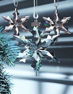 Swarovski 2015 Annual Edition Christmas Star Ornament Set