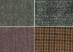 Tweed: tecido originariamente produzido na região de Tweed, Escócia, produzido com fios cardados de lã com duas ou mais cores, em ligamento tela ou sarja 2X2, muito usado para paletós e sobretudos.