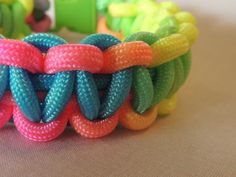 Check out this item in my Etsy shop https://www.etsy.com/listing/227351102/neon-550-paracord-bracelet-survival