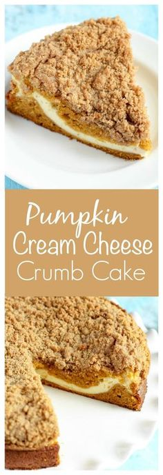 Gunna try to make this keto friendly. Pumpkin crumb cake with a cream cheese filling in the center. This Pumpkin Cream Cheese Crumb Cake is perfect for breakfast or dessert! Mini Desserts, Cream Cheese Desserts, Pumpkin Cream Cheeses, Cream Cheese Filling, Fall Desserts, Just Desserts, Delicious Desserts, Thanksgiving Desserts, Fall Snacks