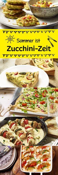 Zucchini hat im Sommer Hochsaison. Damit die Ideen nicht ausgehen, haben wir eine tolle Rezeptsammlung zusammengestellt.