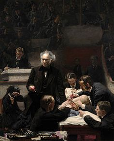 Thomas Eakins.  The Gross Clinic, 1875, Philadelphia Museum of Art and the Pennsylvania Academy of Fine Arts. According to one prescient reviewer in 1876: This portrait of Dr. Gross is a great work—we know of nothing greater that has ever been executed in America