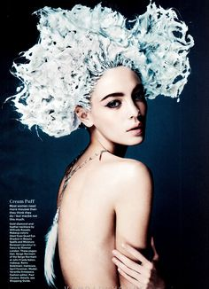 Veranika antsipava for allure june 2012, makeup by Romy Soleimani