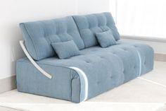Sofá Cama cómodo con cama de 140cm x 200cm. ¡Puedes pasar de sofá a cama en tan solo unos segundos!.