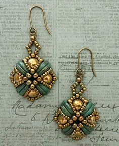 Linda's Crafty Inspirations: Tara Earrings - Turquoise