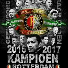 Landskampioen voetbalseizoen 2016 - 2017 Walk Alone, Fifa Football, Rotterdam, Best Player, Old And New, Red And White, Sports, Om, Truck