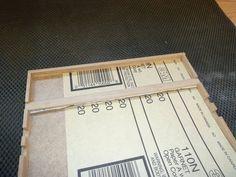Sandpaper sheet storage box
