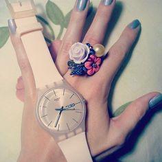 Swatch und Fingerring