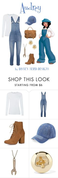 """Audrey Disney Bound"" by disney-nerd-designs ❤ liked on Polyvore featuring La Perla, Disney, Madewell, Allegra K, WithChic, Alison Lou, Proenza Schouler, audrey, disney and disneybound"